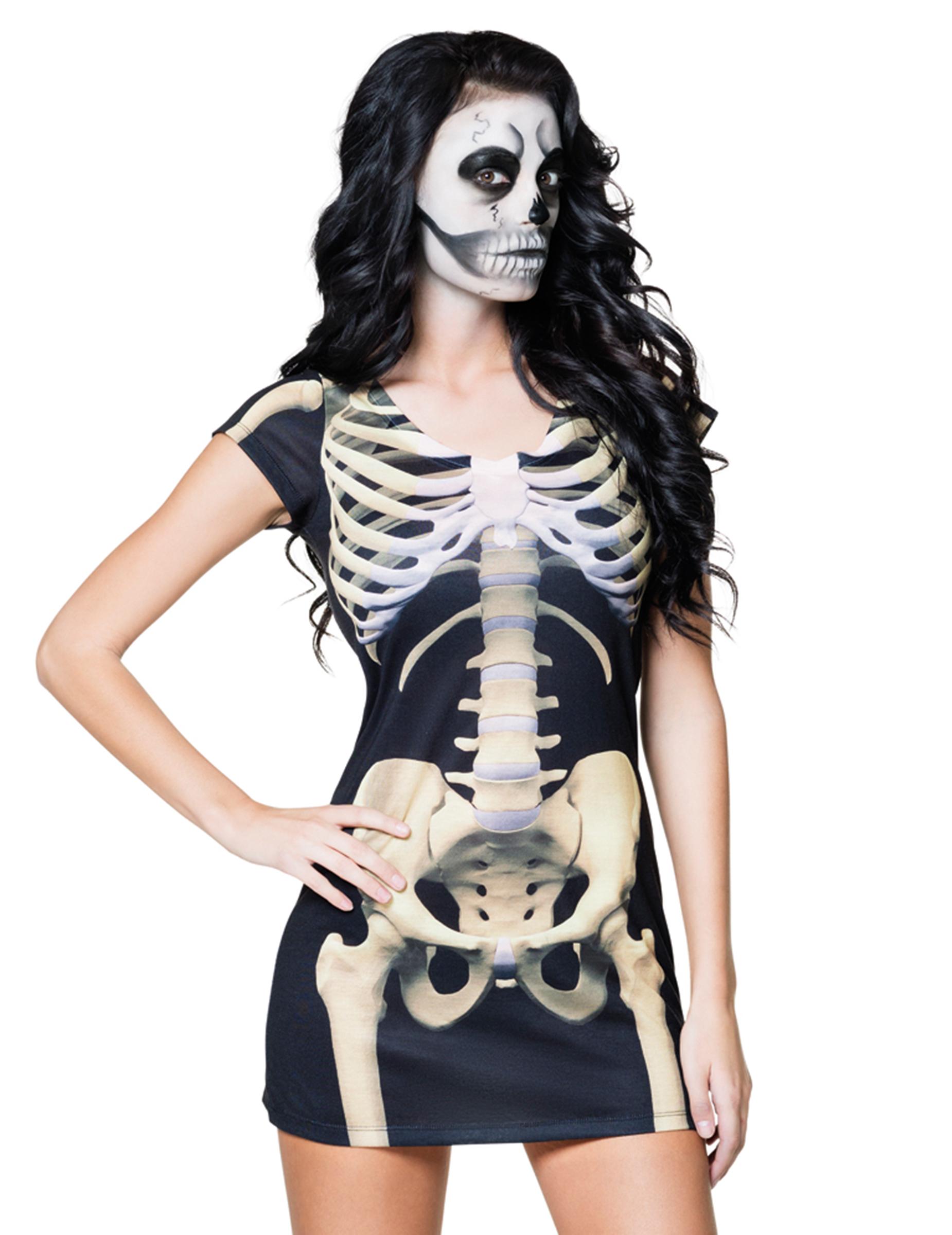 d guisement robe squelette femme halloween deguise toi achat de d guisements adultes. Black Bedroom Furniture Sets. Home Design Ideas