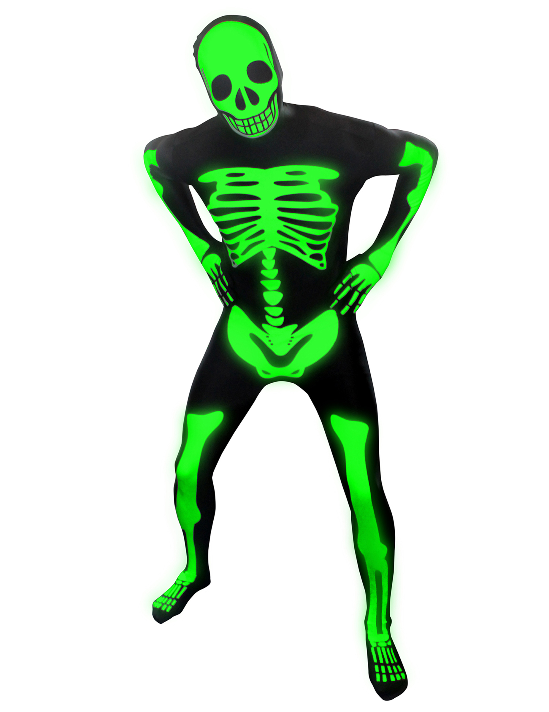 d guisement squelette phosphorescent enfant morphsuits halloween deguise toi achat de. Black Bedroom Furniture Sets. Home Design Ideas