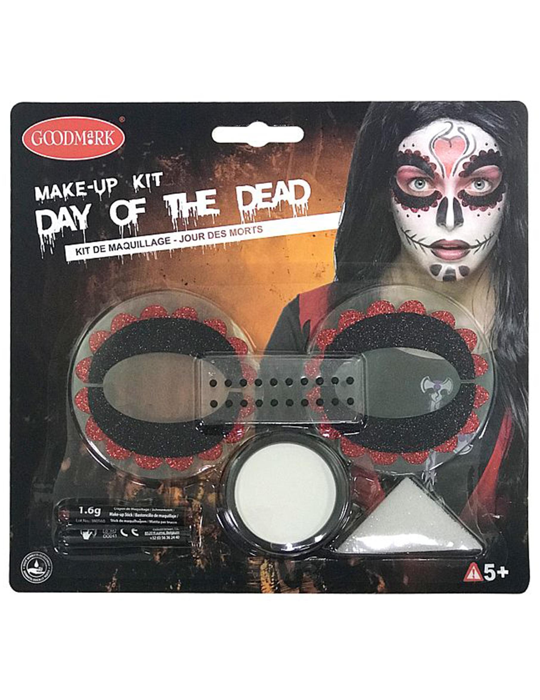 Kit maquillage color femme dia de los muertos deguise toi achat de maquillage - Maquillage dia de los muertos ...