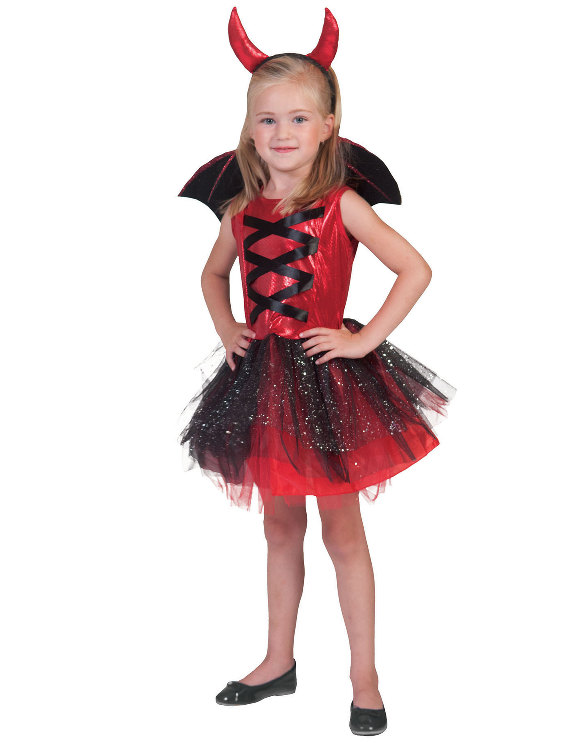 d guisement diablesse tutu avec ailes fille halloween. Black Bedroom Furniture Sets. Home Design Ideas
