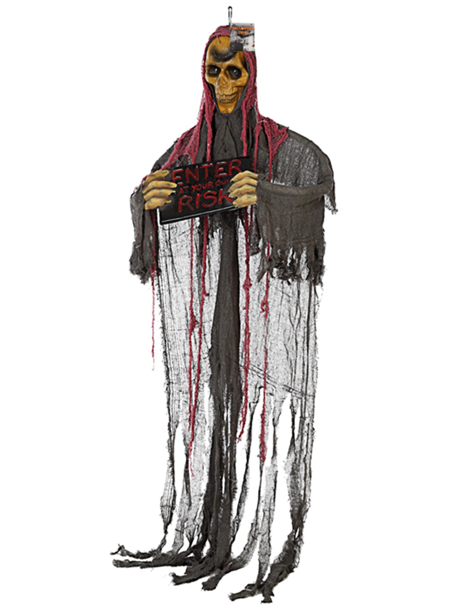 D coration suspendre squelette lumineux halloween achat for Decoration a suspendre