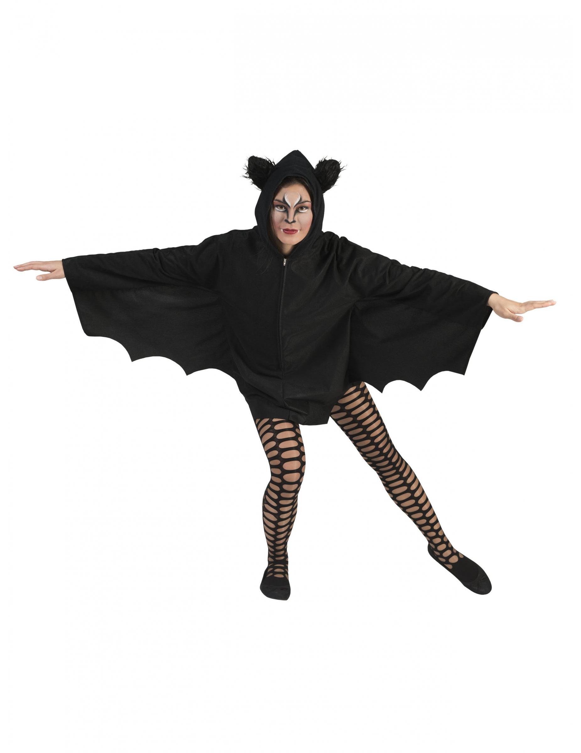 cape chauve souris noire femme halloween deguise toi achat de accessoires. Black Bedroom Furniture Sets. Home Design Ideas