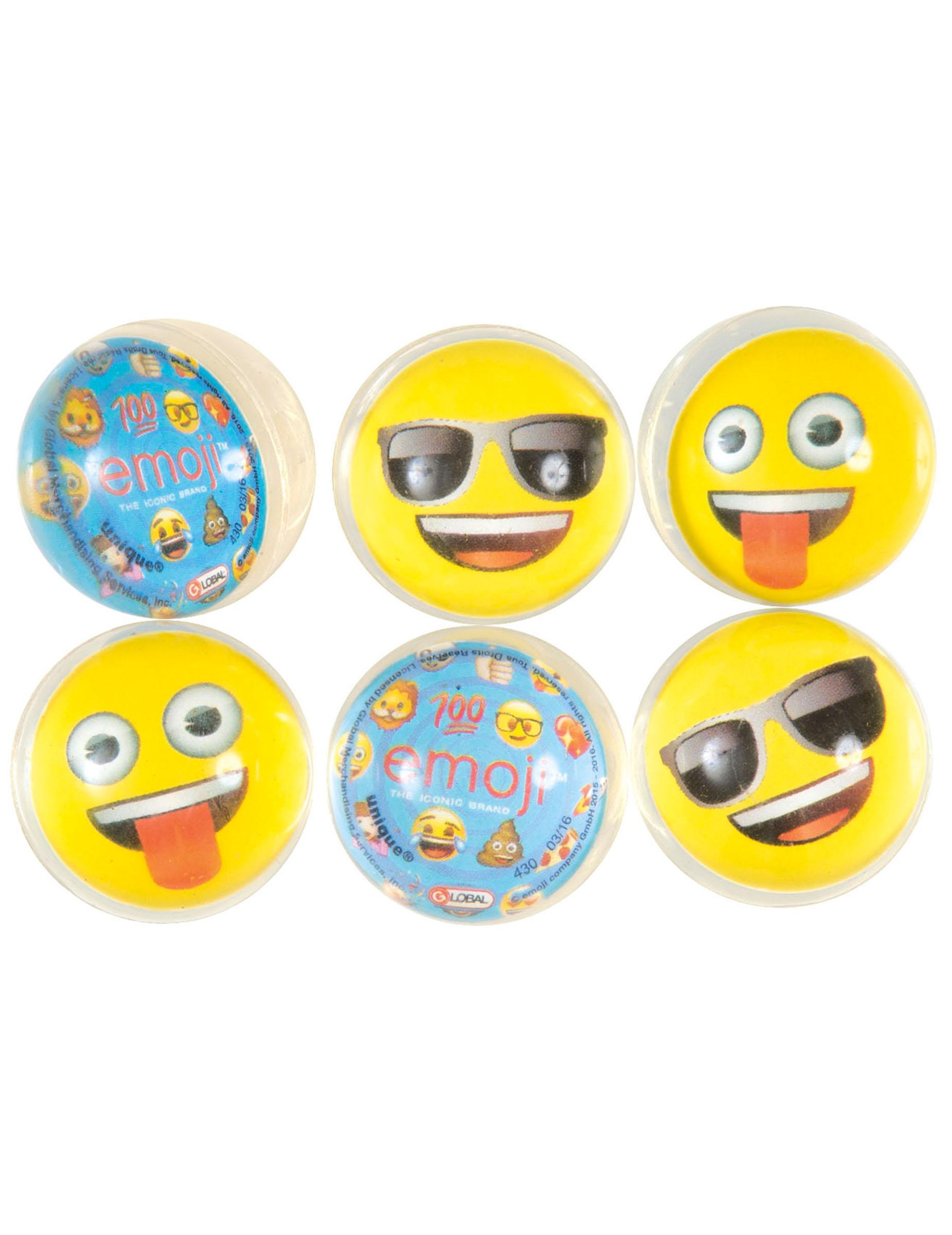 6 balles rebondissantes emoji deguise toi achat de for Decoration emoji