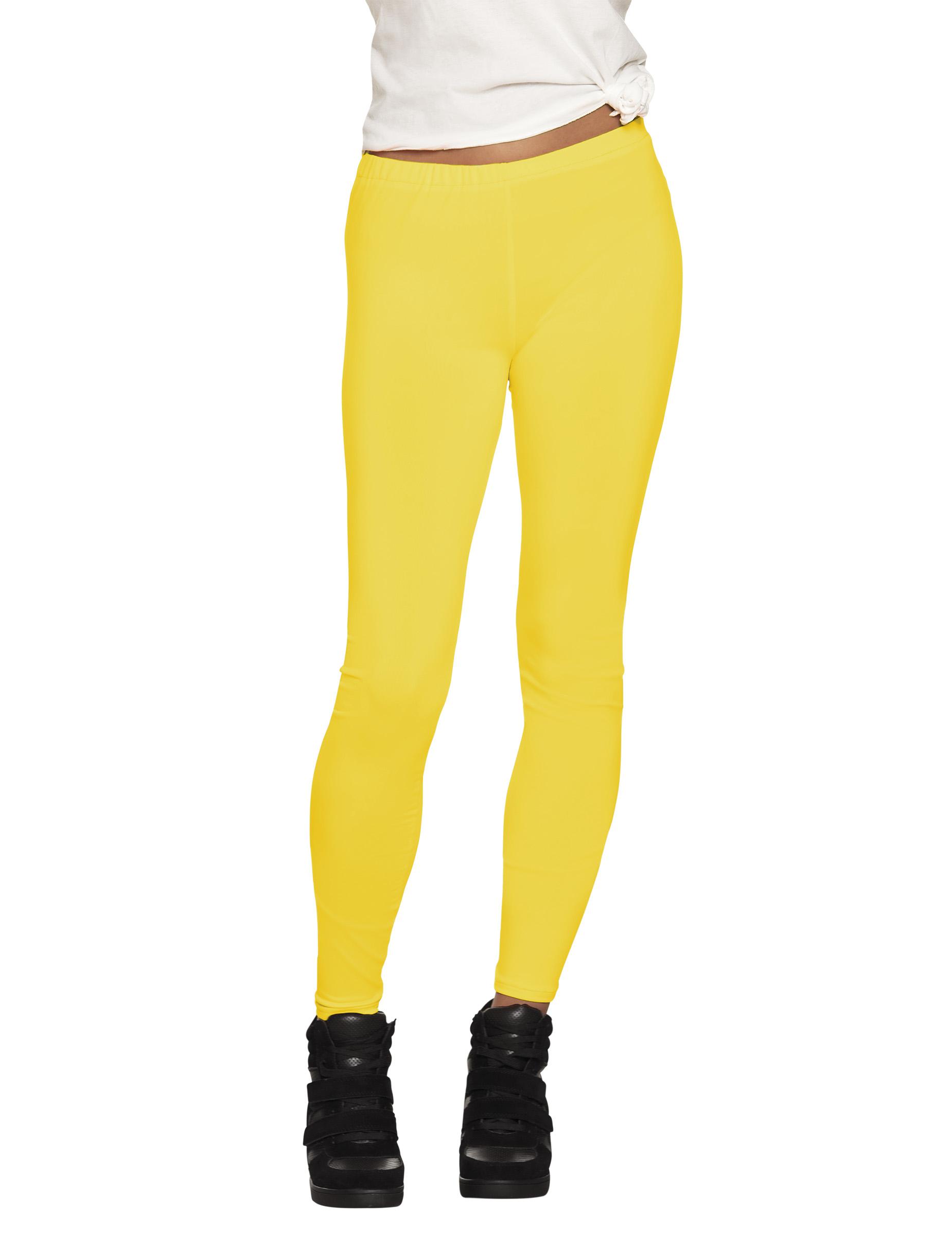Legging jaune fluo adulte   Deguise-toi d61a48cc1eb