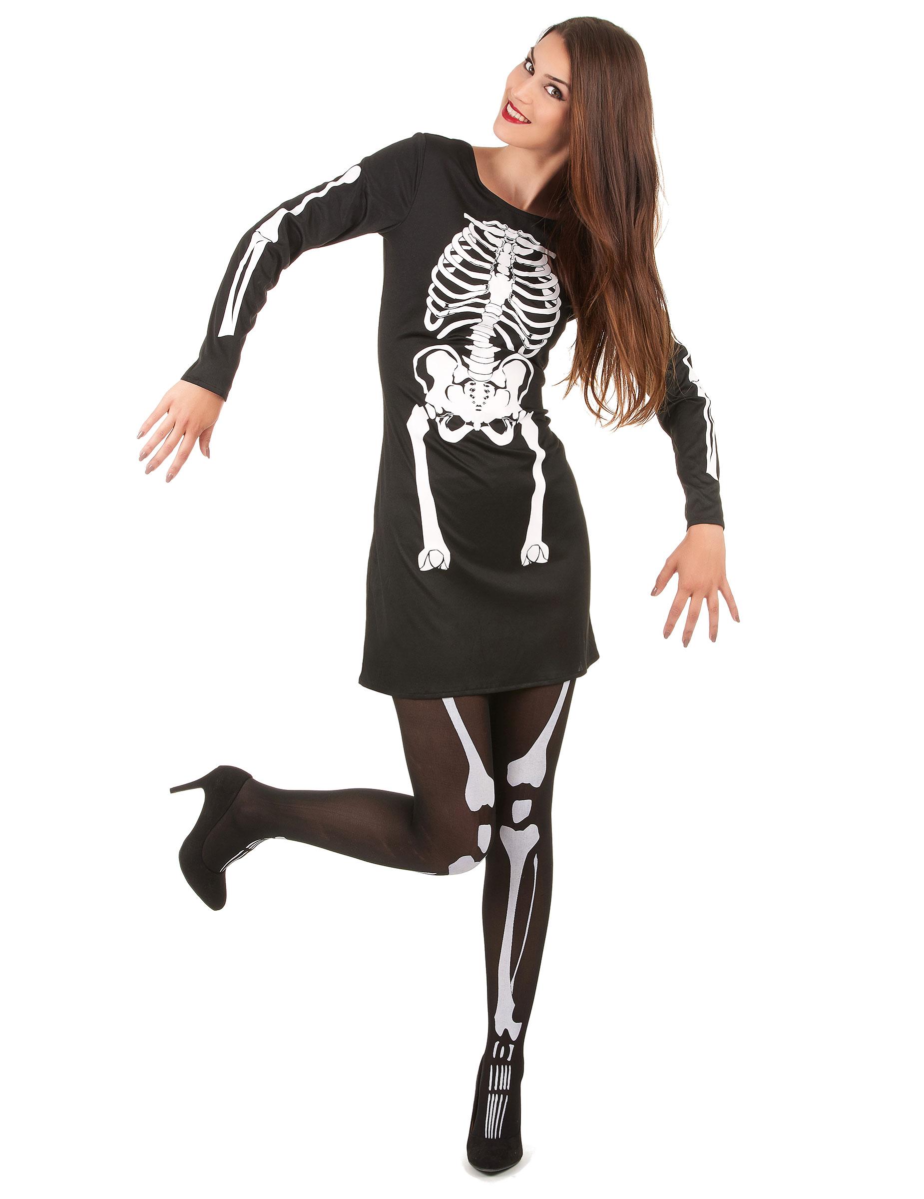 d guisement squelette femme halloween deguise toi achat. Black Bedroom Furniture Sets. Home Design Ideas