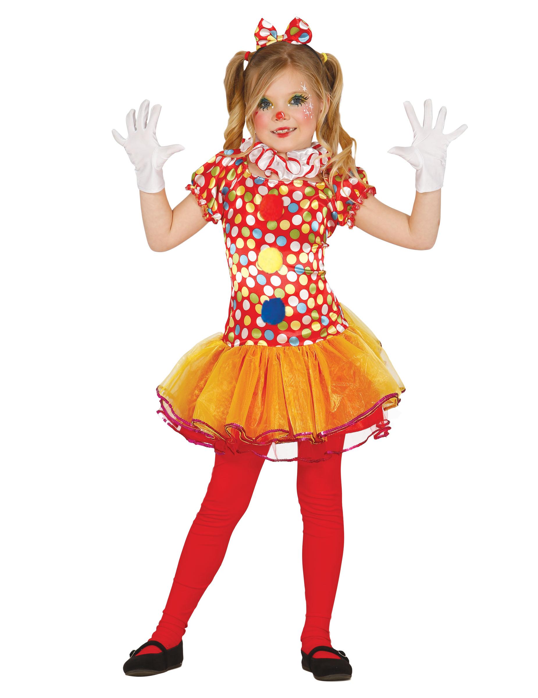 d guisement clown multicolore avec tutu fille deguise toi achat de d guisements enfants. Black Bedroom Furniture Sets. Home Design Ideas