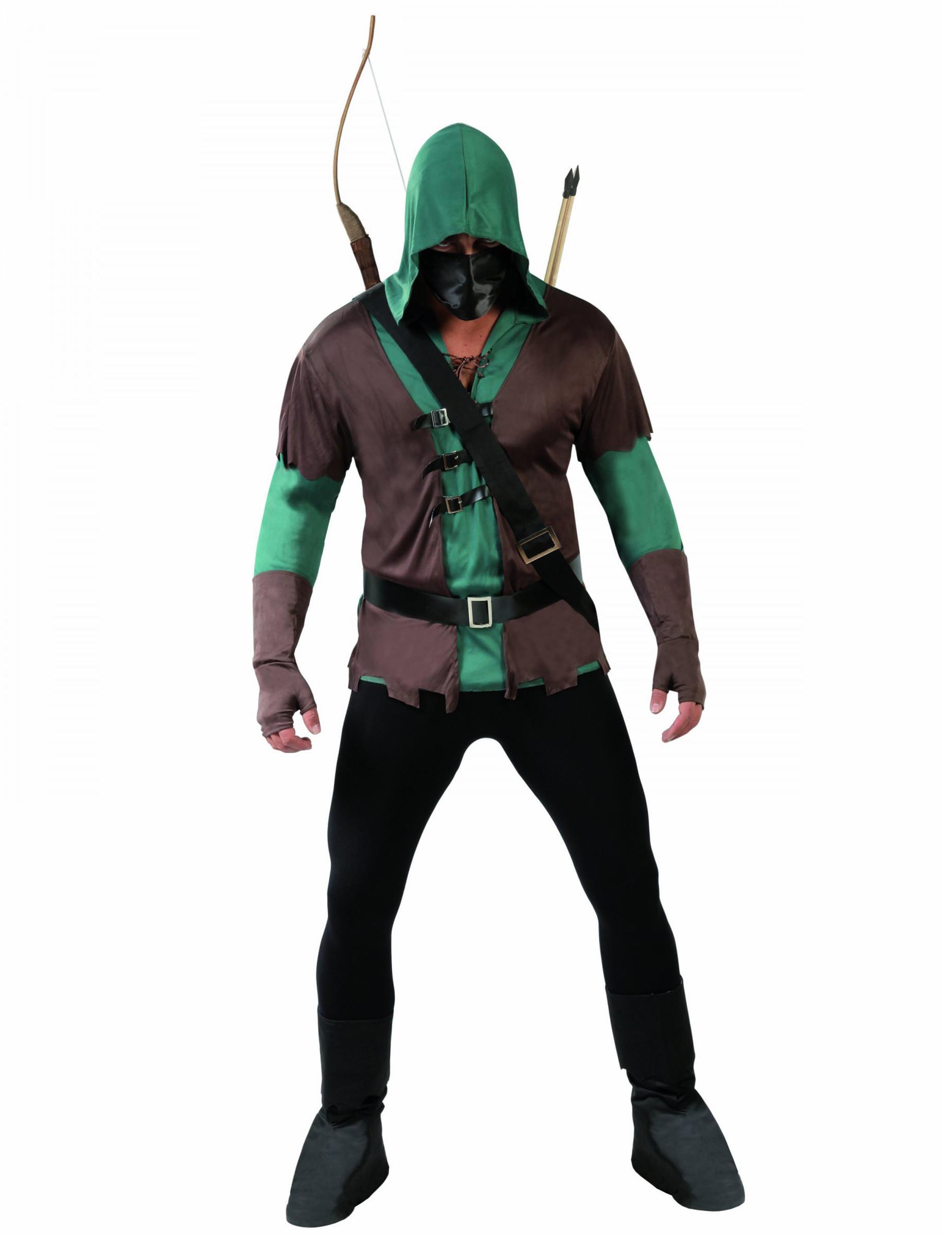 charme de coût haut de gamme authentique vraie qualité Déguisement archer masqué homme
