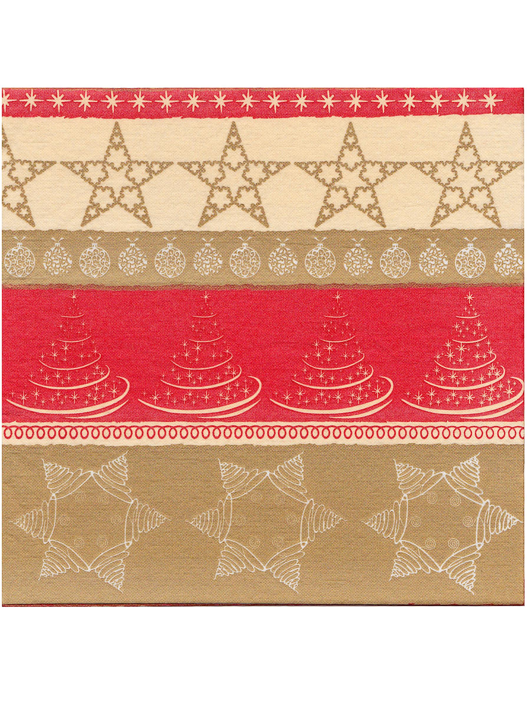 12 serviettes no l papier intiss premium rouge et dor 40 x 40 cm deguise toi achat de. Black Bedroom Furniture Sets. Home Design Ideas