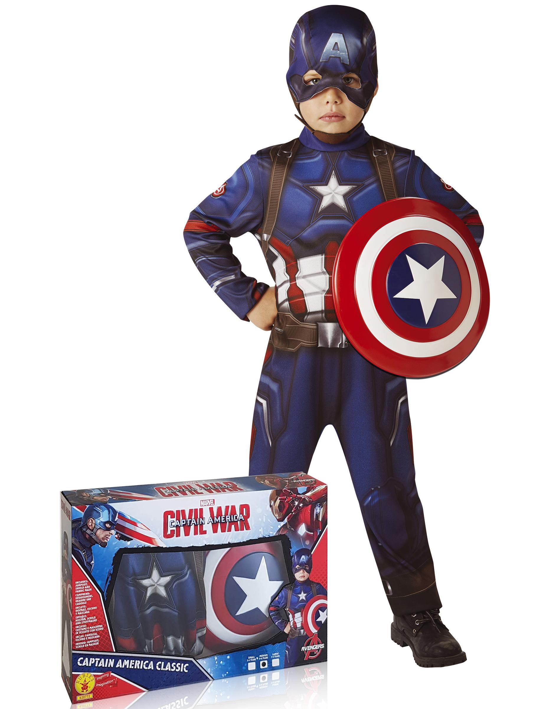 d guisement classique captain america avec bouclier avengers coffret deguise toi achat. Black Bedroom Furniture Sets. Home Design Ideas