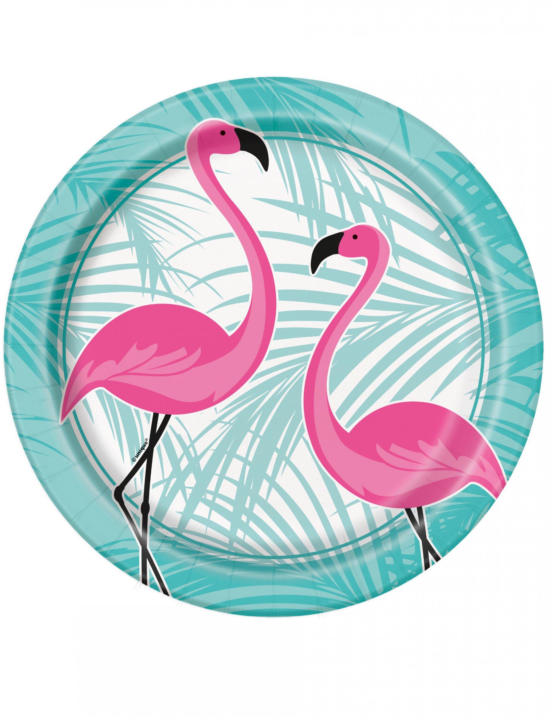 8 assiettes en carton flamant rose 22 cm deguise toi achat de decoration - Decoration flamant rose ...