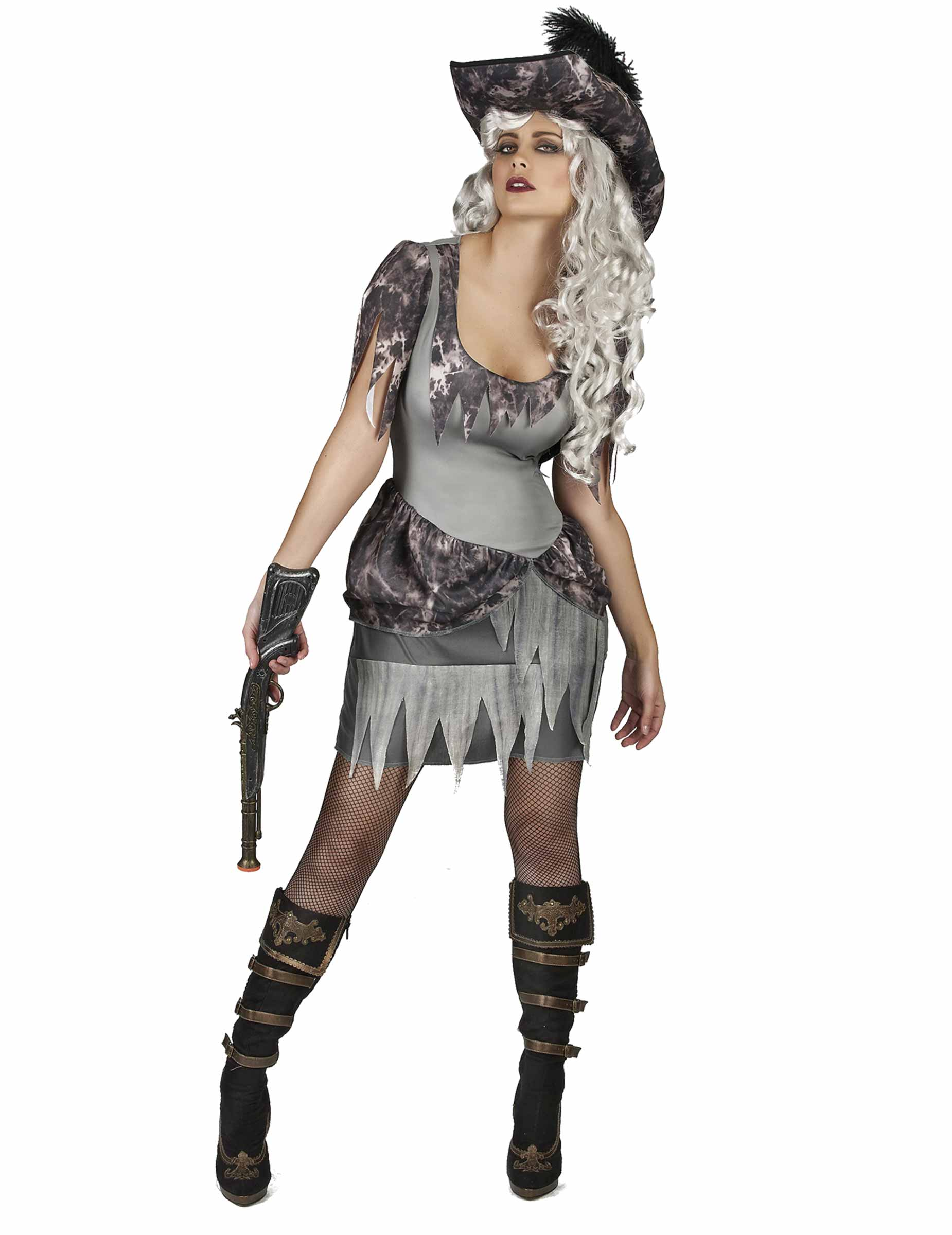 D guisement pirate fant me grise femme deguise toi - Pirate fantome ...