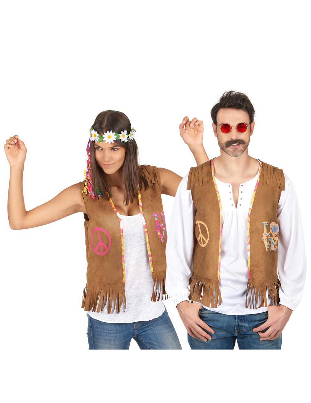 d guisement de couple gilet hippie deguise toi achat de d guisements couples. Black Bedroom Furniture Sets. Home Design Ideas