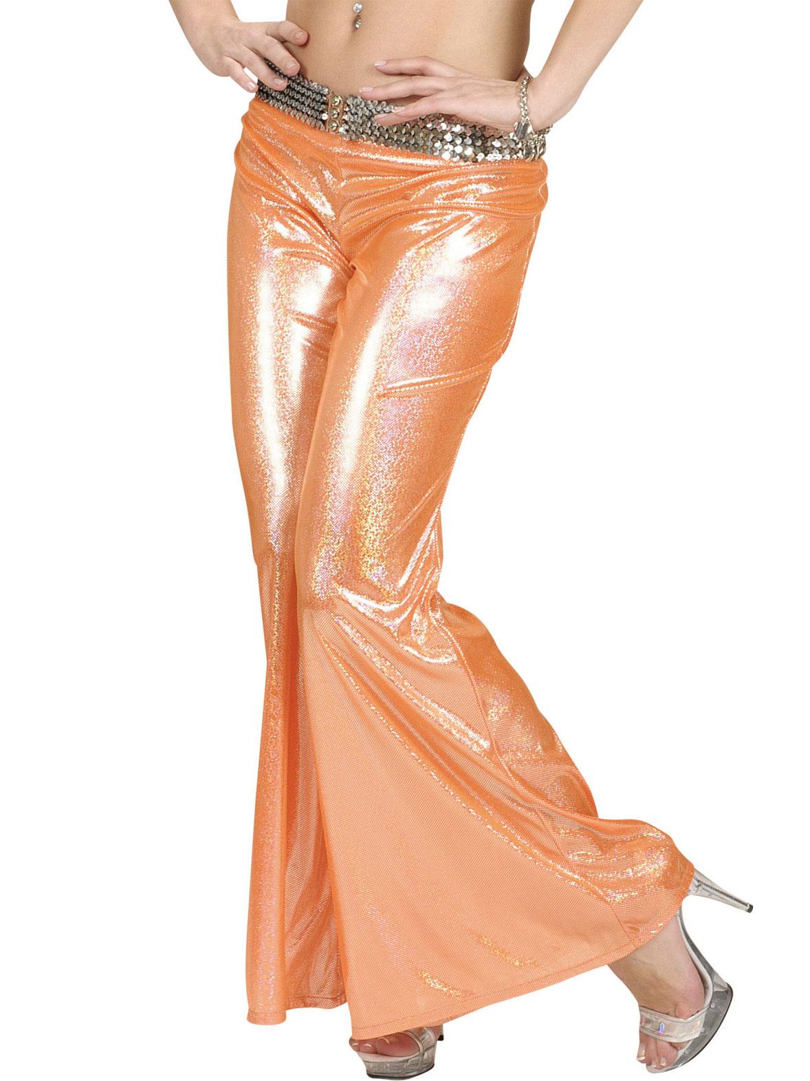 pantalon disco holographique orange femme deguise toi achat de d guisements adultes. Black Bedroom Furniture Sets. Home Design Ideas