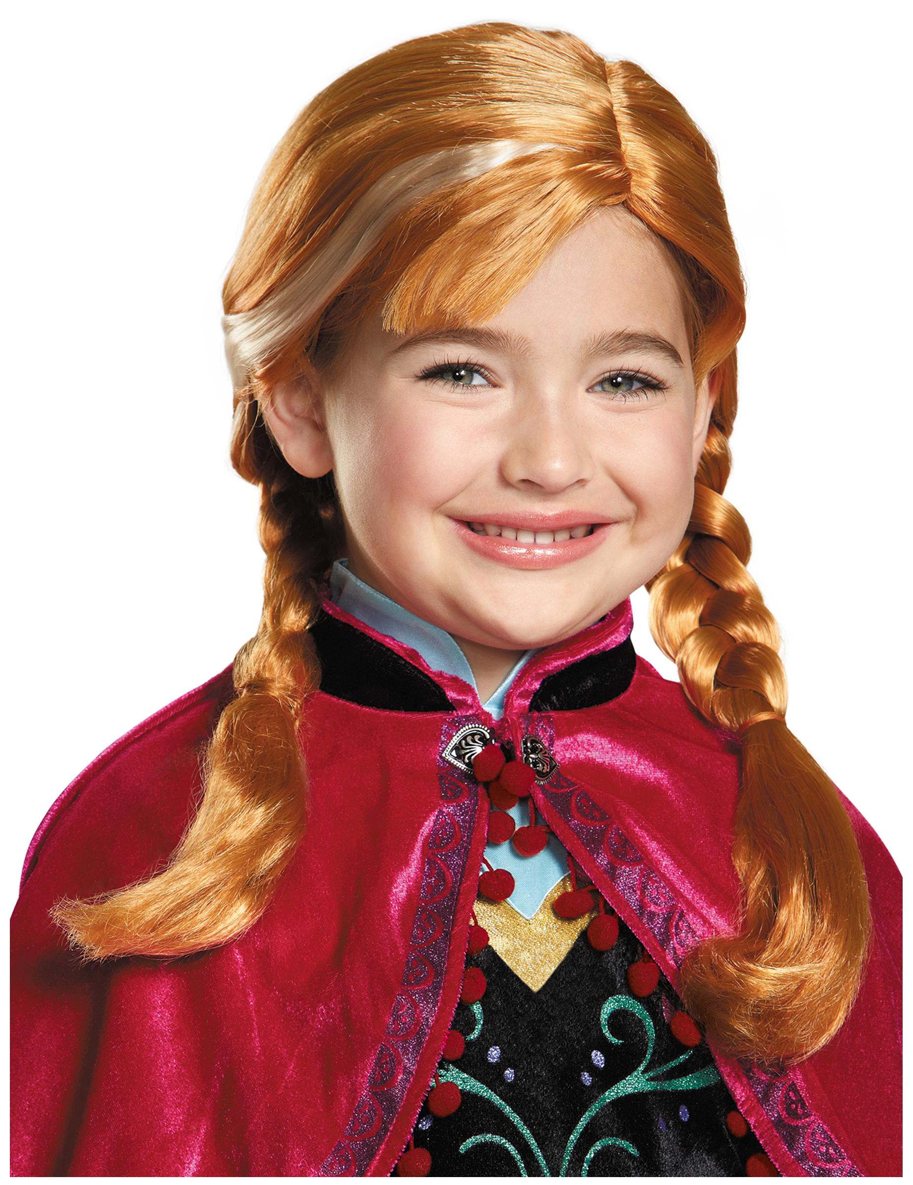 Perruque anna reine des neiges fille deguise toi achat - Ana reine des neiges ...