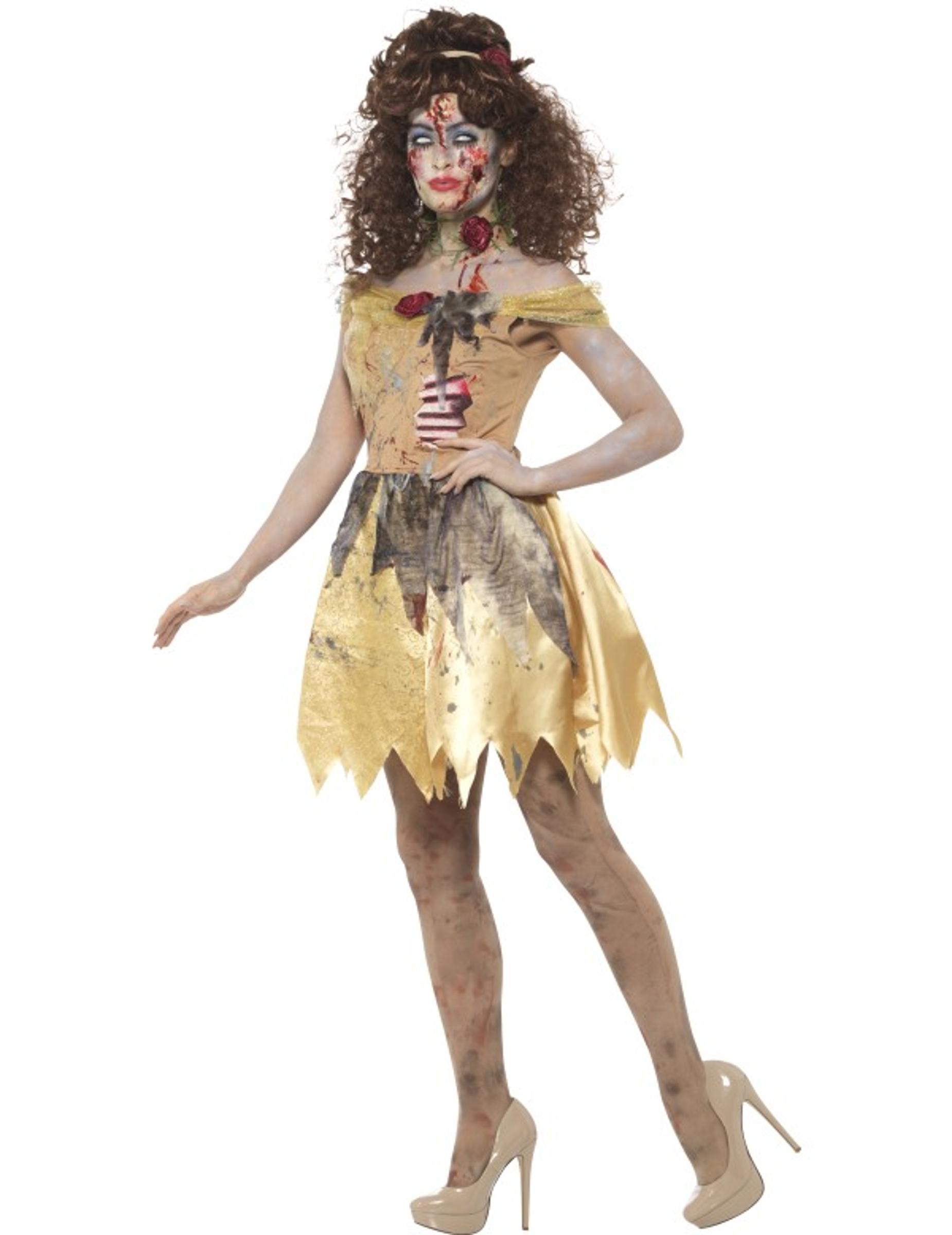 d guisement conte de f es dor zombie femme halloween deguise toi achat de d guisements adultes. Black Bedroom Furniture Sets. Home Design Ideas