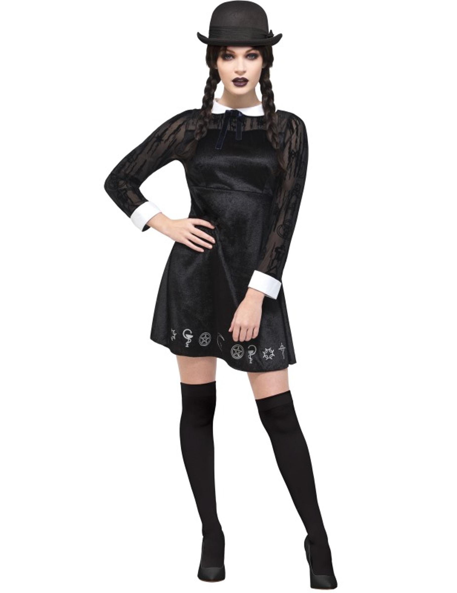 d guisement coli re gothique femme halloween deguise. Black Bedroom Furniture Sets. Home Design Ideas