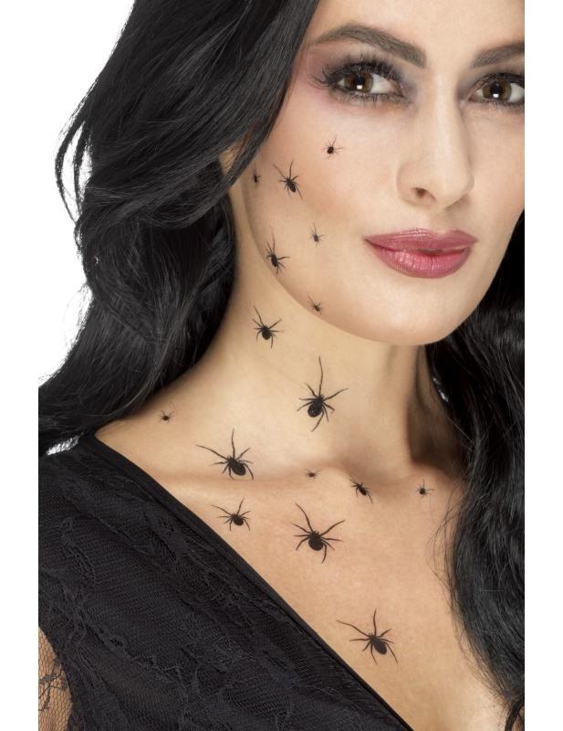 Tatouages temporaires araign es femme halloween deguise toi achat de maquillage - Maquillage halloween araignee ...
