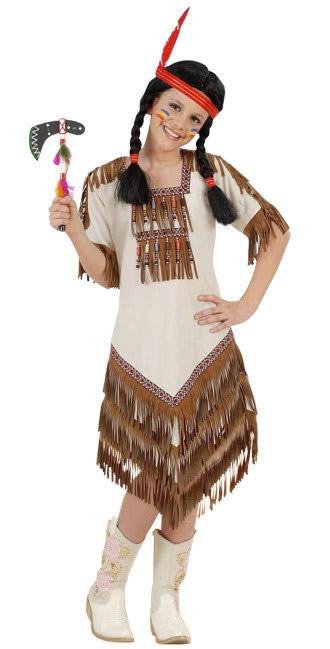 d guisement squaw indienne beige fille deguise toi achat de d guisements enfants. Black Bedroom Furniture Sets. Home Design Ideas