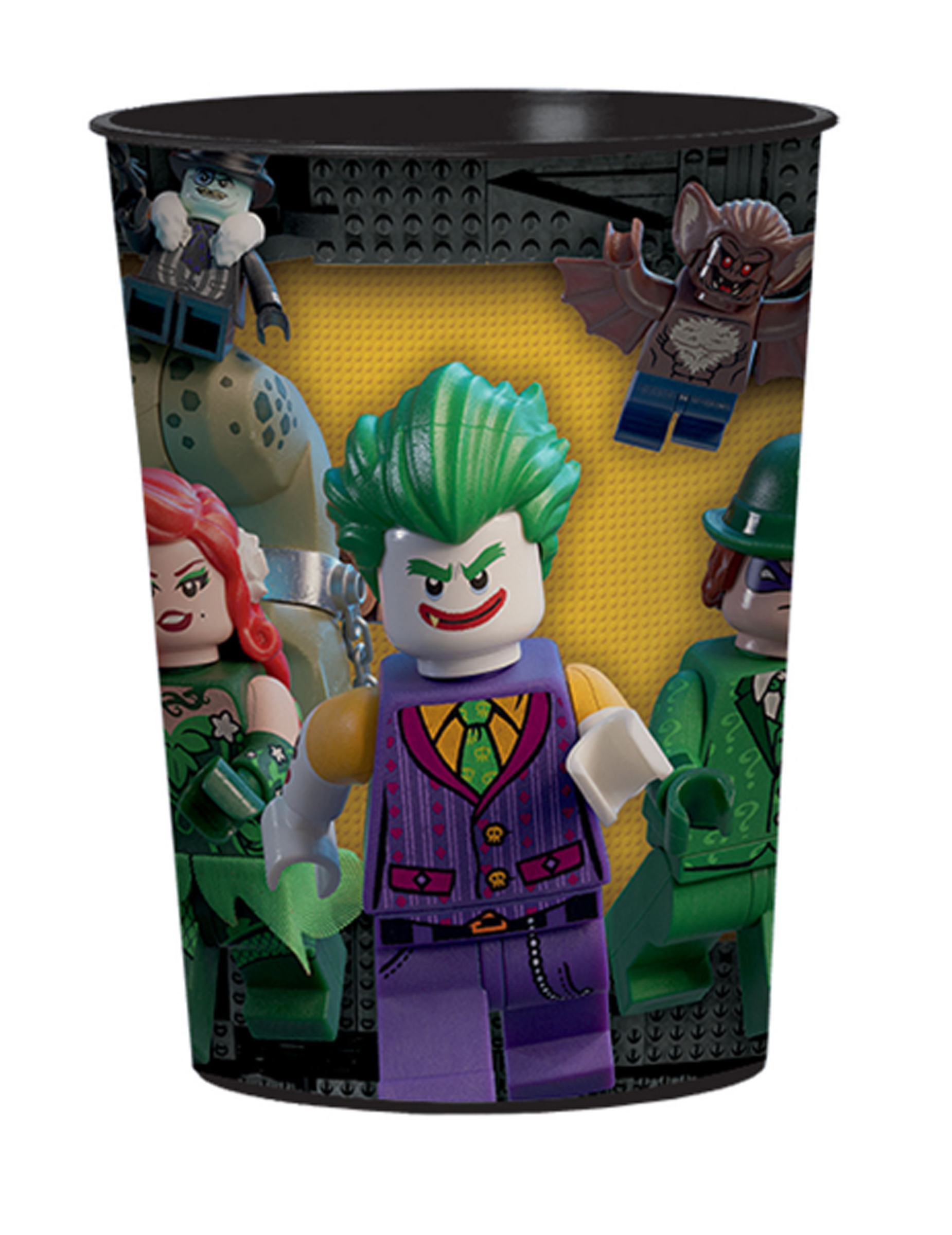 gobelet plastique lego batman 473 ml deguise toi achat de decoration animation. Black Bedroom Furniture Sets. Home Design Ideas