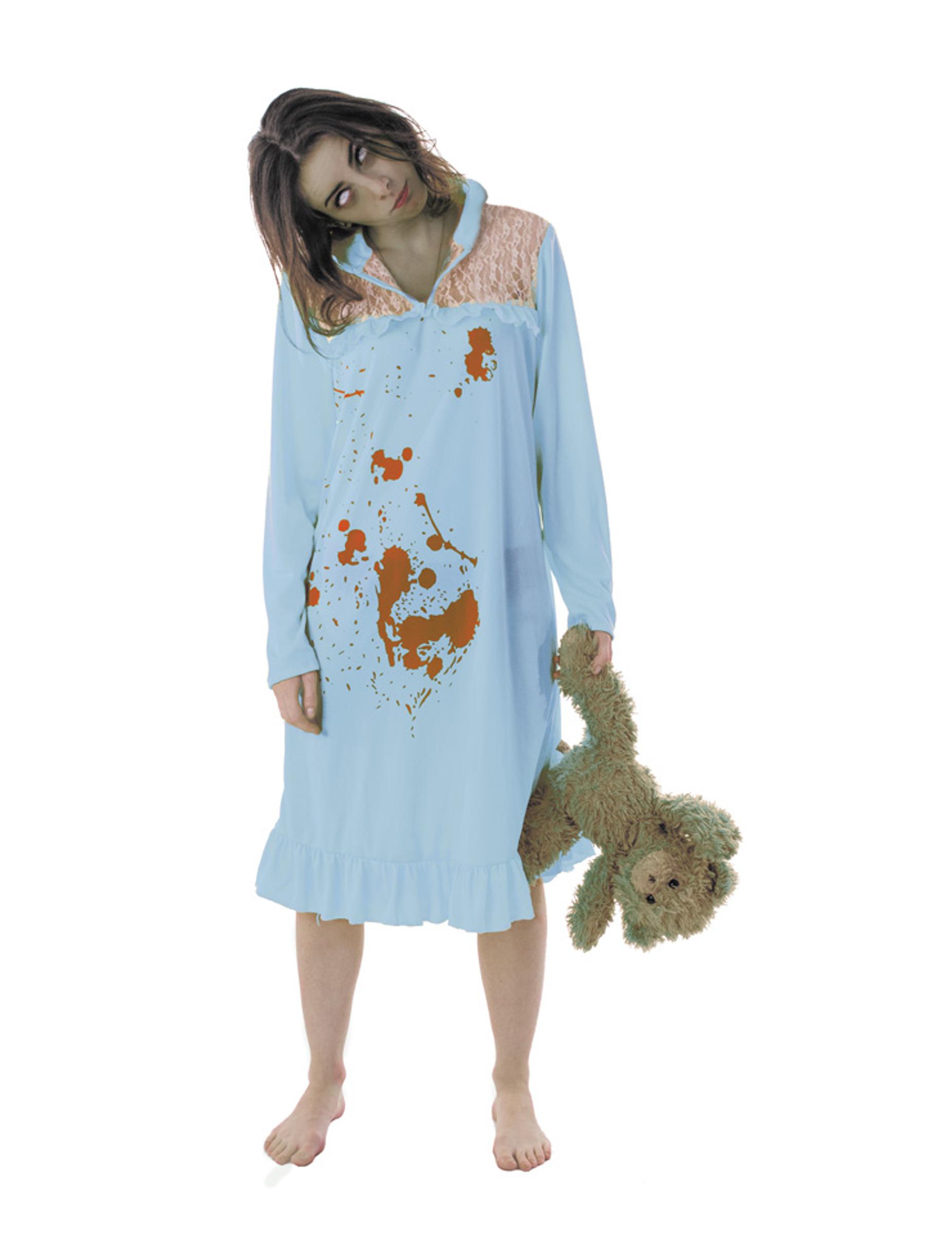d guisement zombie pyjama femme halloween deguise toi achat de d guisements adultes. Black Bedroom Furniture Sets. Home Design Ideas