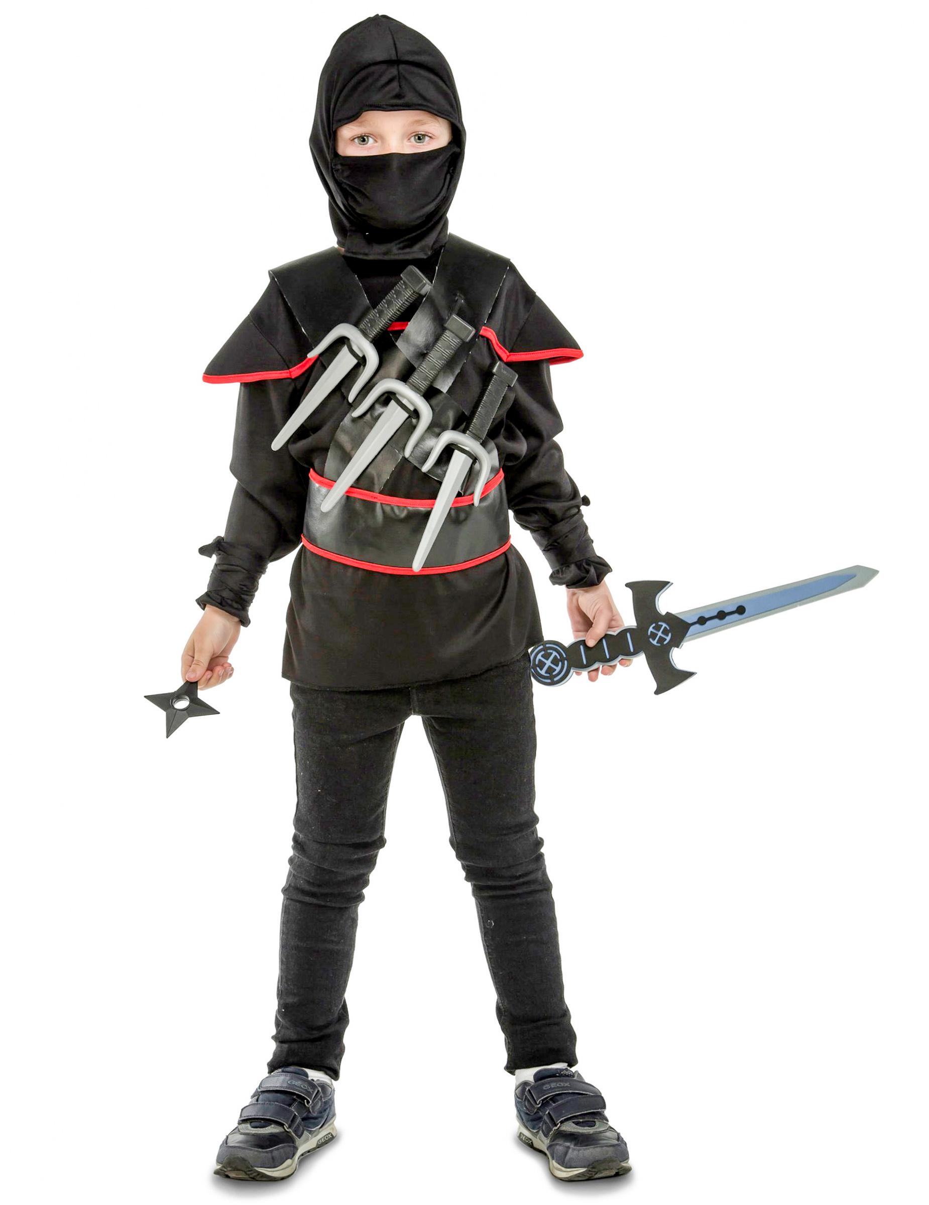 d guisement ninja noir avec accessoires enfant deguise toi achat de d guisements enfants. Black Bedroom Furniture Sets. Home Design Ideas