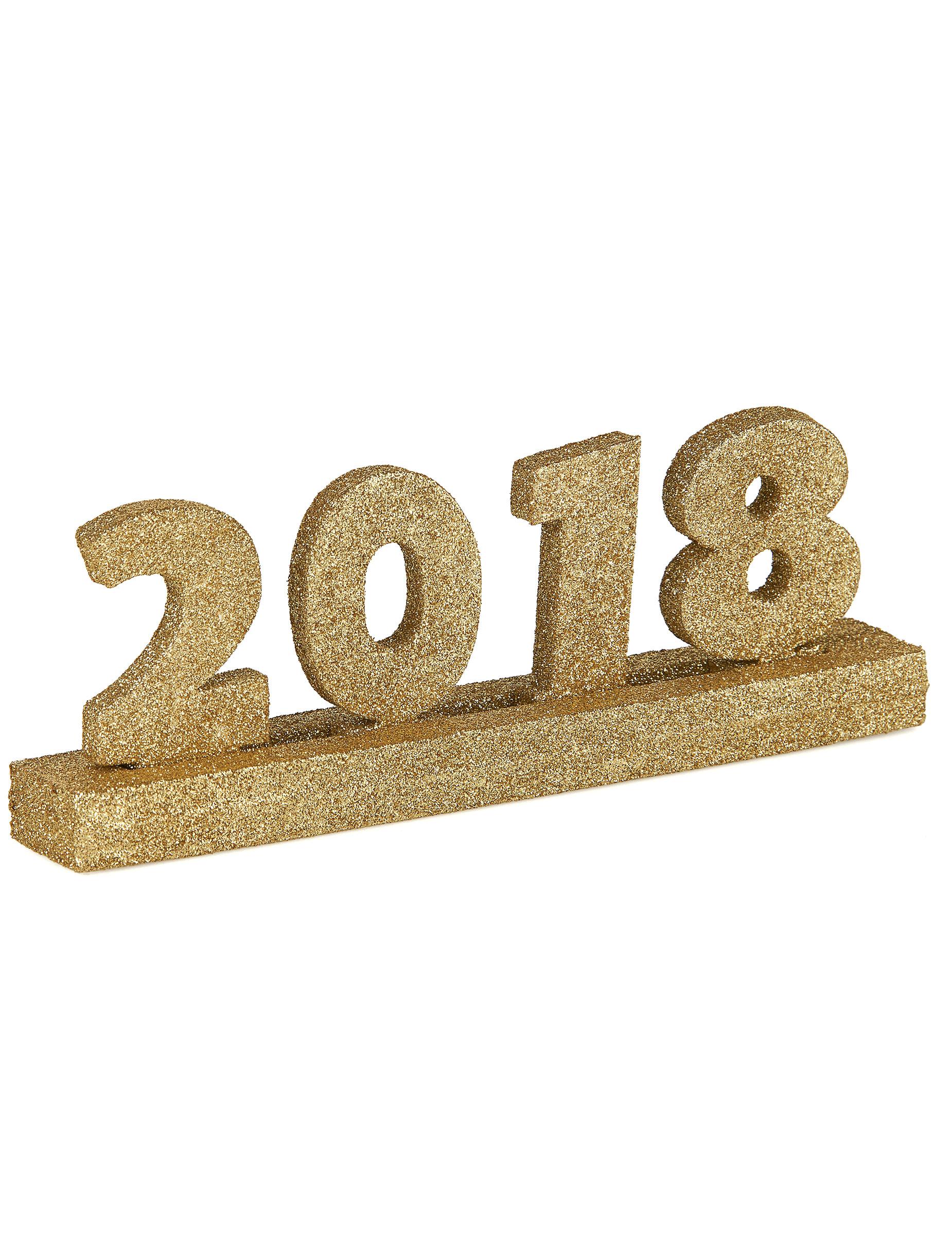 D coration chiffres ann e 2018 nouvel an 20 x 3 x 7 cm for Decoration nouvel an 2018