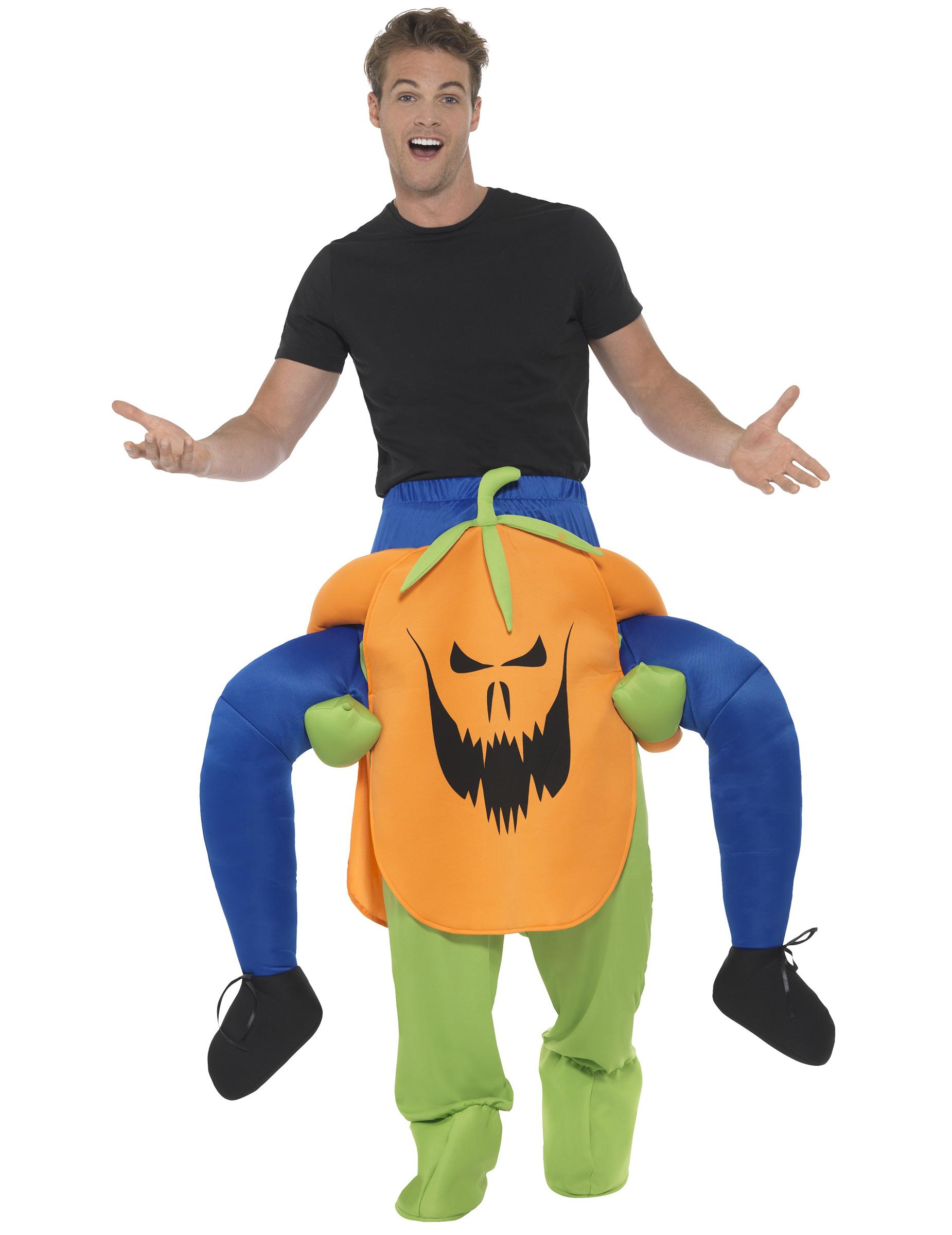 D guisement homme dos de citrouille effrayante adulte halloween deguise toi achat de - Deguisement de citrouille ...