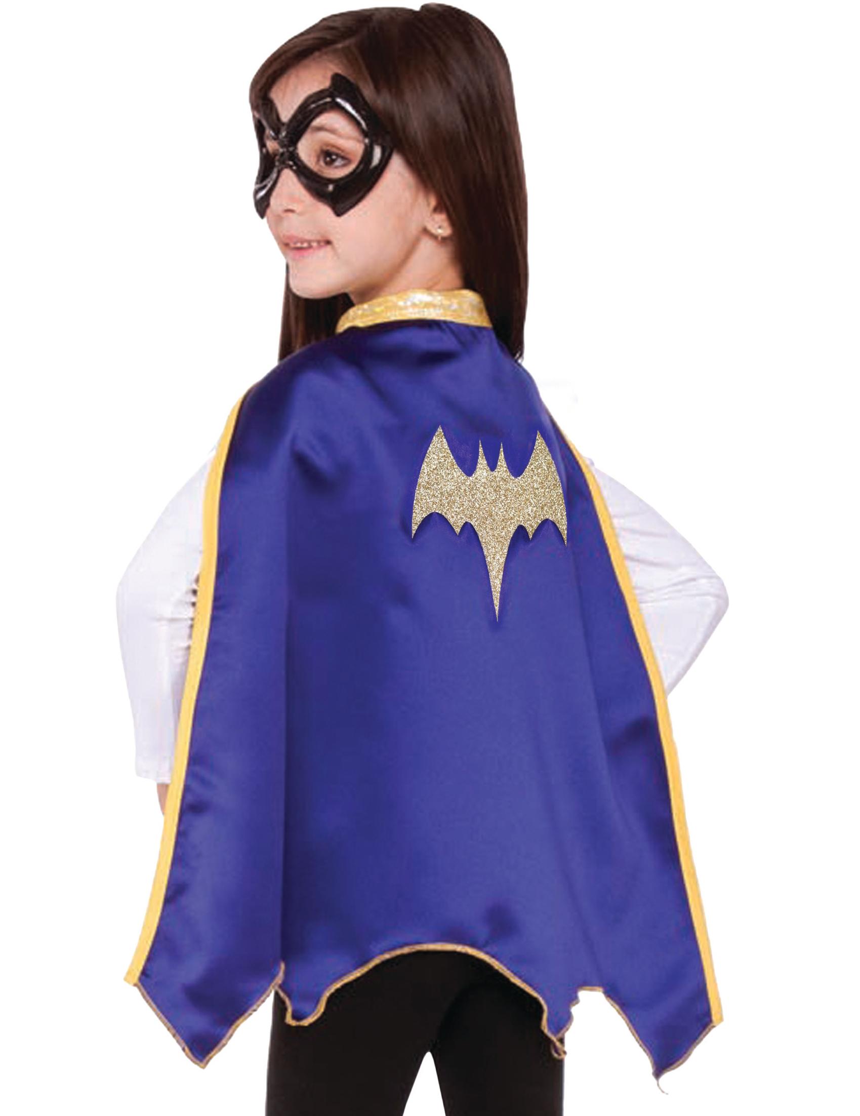 cape et loup batgirl super hero girls enfant deguise toi achat de accessoires. Black Bedroom Furniture Sets. Home Design Ideas