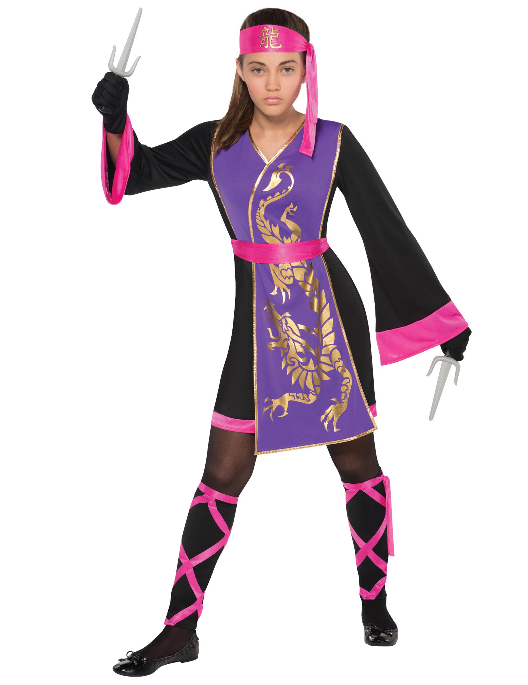 0f783af4bfb648 Déguisement ninja rose et violet fille   Deguise-toi, achat de ...