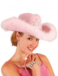Chapeau cowgirl rose femme