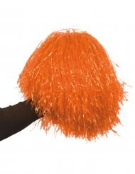 Pompon orange métallique
