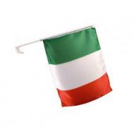 Drapeau pour voiture supporter Italie 30 X 46 cm