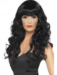 Perruque sirène bouclée noire femme