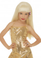 Perruque blonde glamour  fille