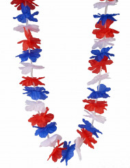 Collier supporter Hawaï tricolore France adulte