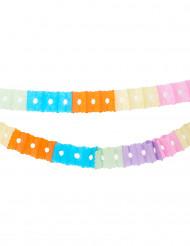 Guirlandes en papier multicolore 2,5mètres