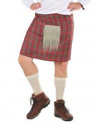 Kilt écossais avec fourrure adulte