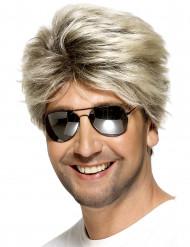 Perruque blonde  courte homme