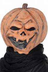 Masque latex citrouille adulte Halloween