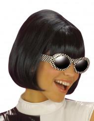 Perruque carré noire femme