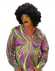 Chemise disco homme violet