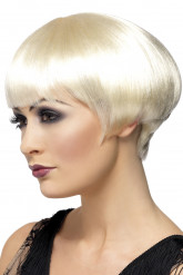 Perruque charleston blonde femme
