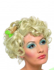 Perruque blonde courte bouclée femme