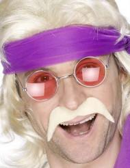 Moustache blonde années 70' adulte