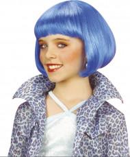 Perruque courte cabaret bleue fille