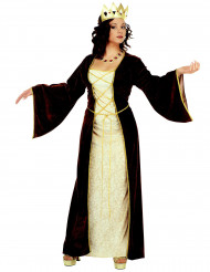 Déguisement princesse médiévale avec couronne femme
