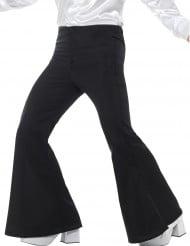 Pantalon noir pattes d'éléphant disco homme