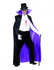 Cape réversible vampire violette ou noire adulte Halloween