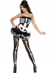 Déguisement squelette sexy  femme Halloween