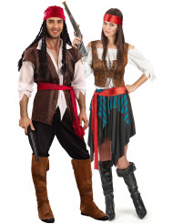 Déguisement couple pirate luxe